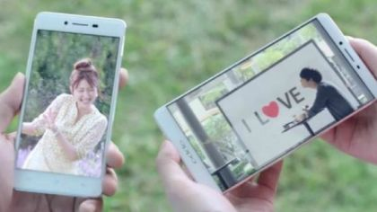 Smartphones Oppo R7 and Oppo R7 Plus appeared in ads