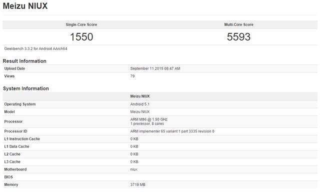 Meizu Pro 5 on GeekBench with a score higher than the Samsung Galaxy Note 5