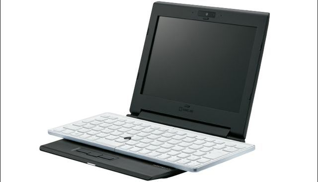 Portabook XMC10: unusual laptop with a folding keyboard