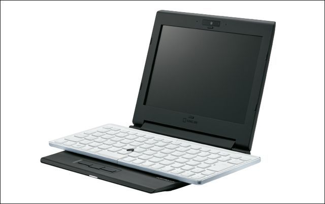 Portabook XMC10: unusual laptop with a folding keyboard