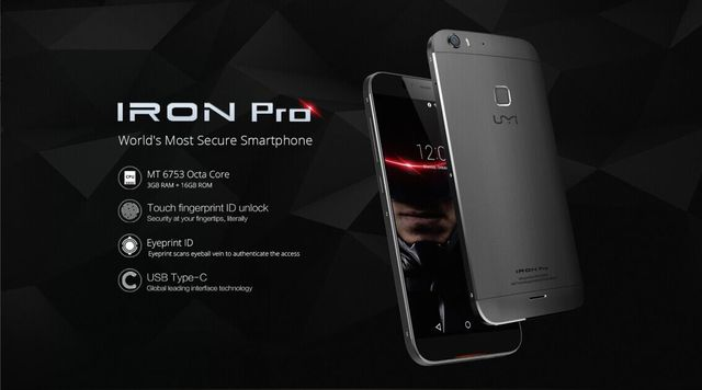 UMI Iron Pro: fingerprint reader and retinal scanner within 200 €