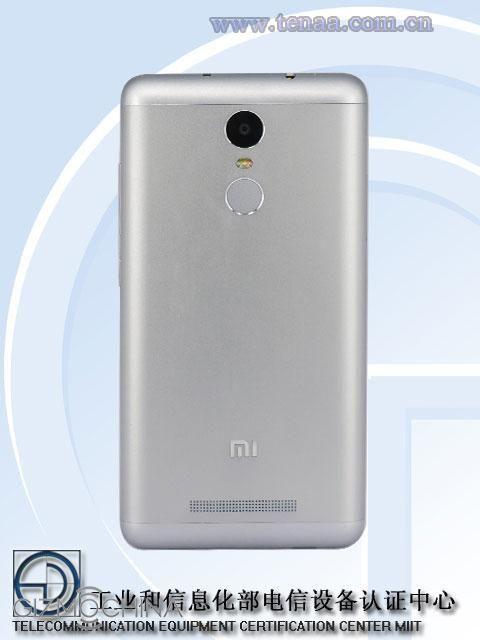 Xiaomi Redmi Note 2 Pro: pictures of TENAA confirm the fingerprint reader